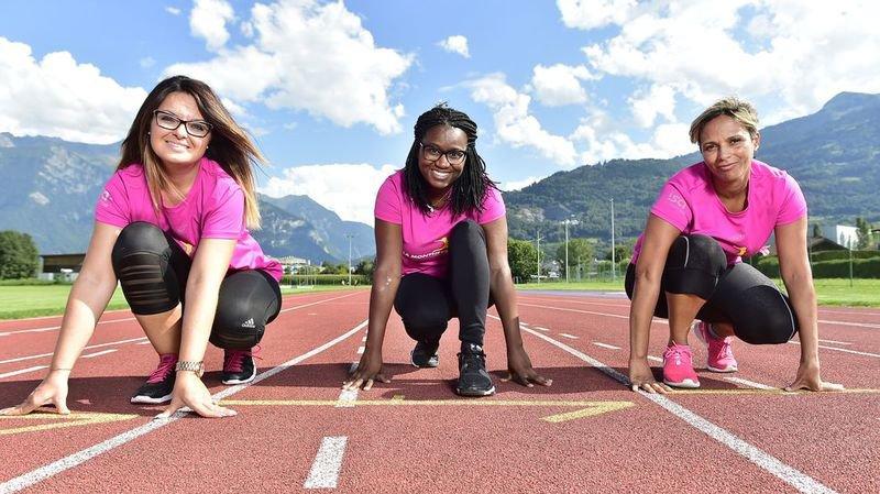 La Montheysanne: trois Chablaisiennes racontent leur motivation à courir pour la bonne cause