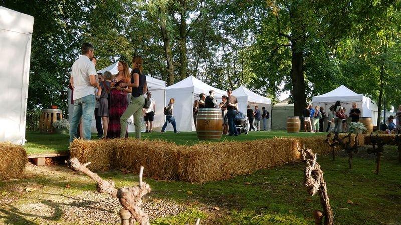 Atmosphère garden party, cadre naturel exclusif, espace familial et décontracté et le soleil en bonus pour le premier Jardin des Vins de Sion à Berne.