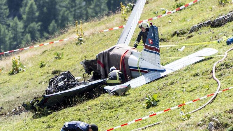 Les victimes de l'accident d'avion au Sanetsch ont été identifiées