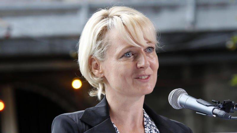 La présidente Isabelle Moret en Valais