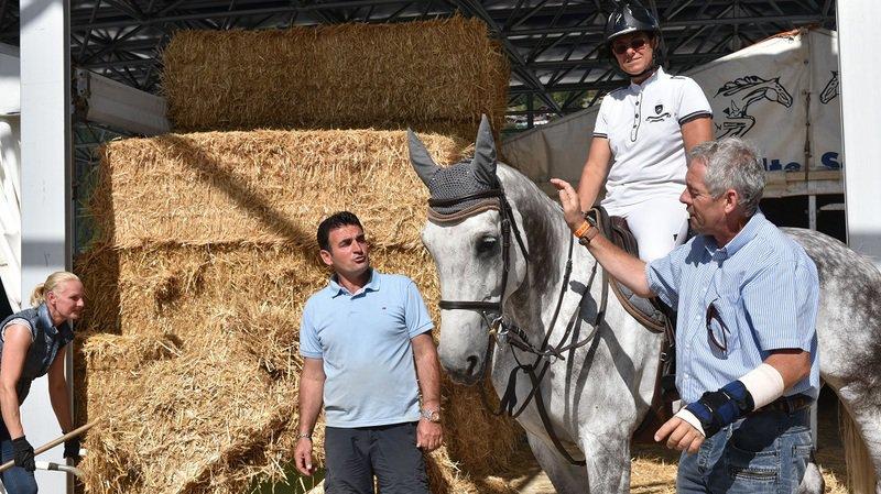 Jumping de Verbier: des chevaux sous haute surveillance