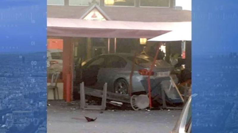 L'homme a foncé à bord d'un véhicule BMW sur une pizzeria où se trouvaient de nombreux clients, notamment en terrasse.