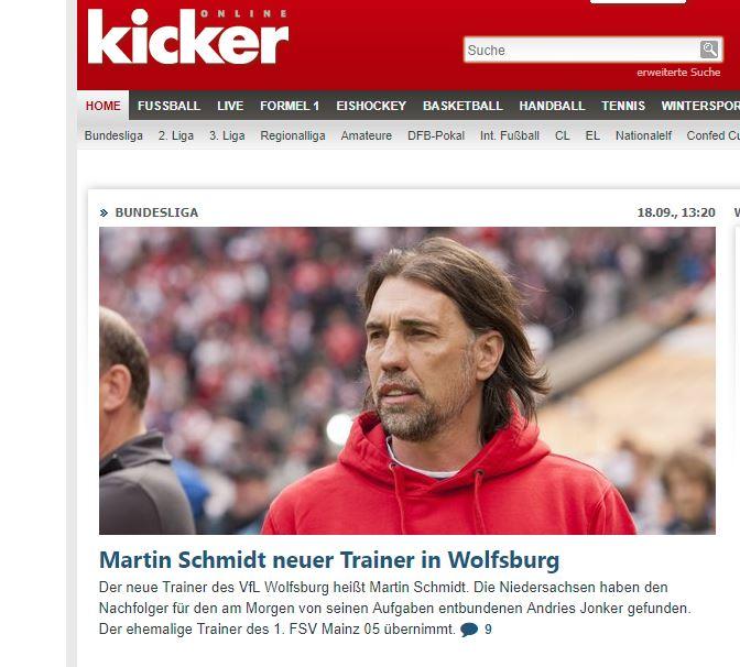 Martin Schmidt succède à Andries Jonker sur le banc de Wolfsburg