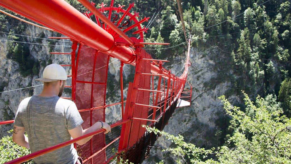 Le WWF Valais s'oppose à la construction d'une via ferrata dans le secteur du pont suspendu de Niouc.