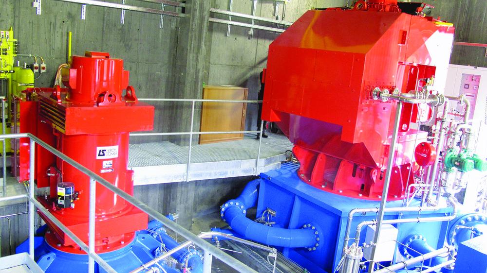 Deux groupes de production ont été aménagés dans la nouvelle centrale hydroélectrique de La Delise.