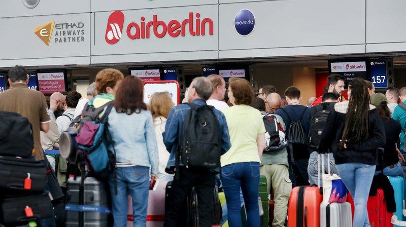 des vols ont été annulés dans plusieurs aéroports d'Allemagne, notamment à Berlin, Düsseldorf (photo), Hambourg et Cologne.