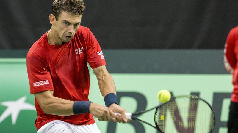 Tennis: Laaksonen se rachète et égalise pour la Suisse en barrage de Coupe Davis