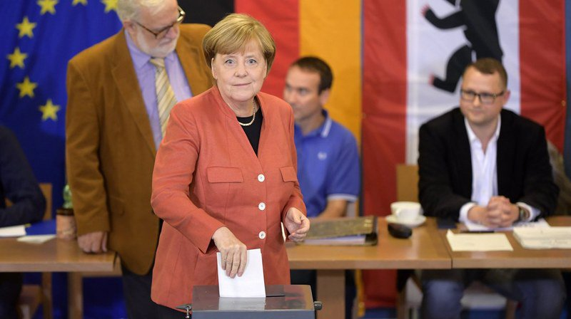 Le parti d'Angela Merkel est arrivé en tête des législatives.