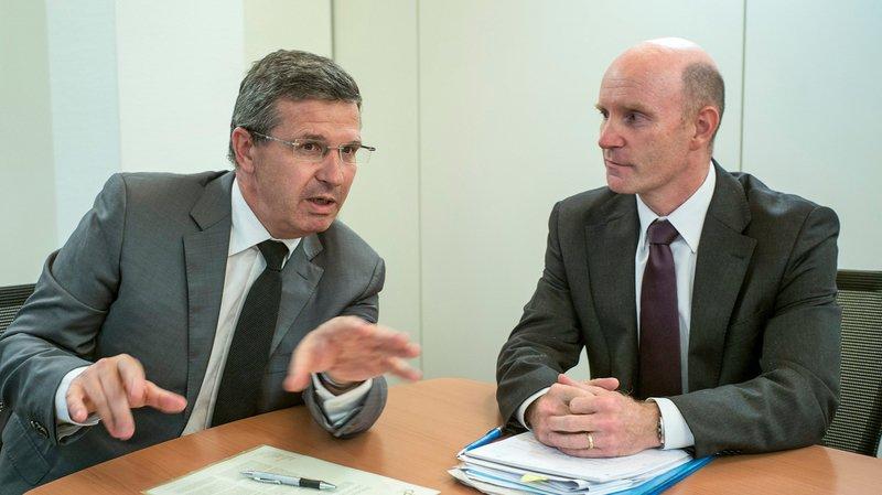 Christophe Reymond (à gauche) et Marco Taddei ont des avis partagés sur Prévoyance 2020, en votation le 24septembre.