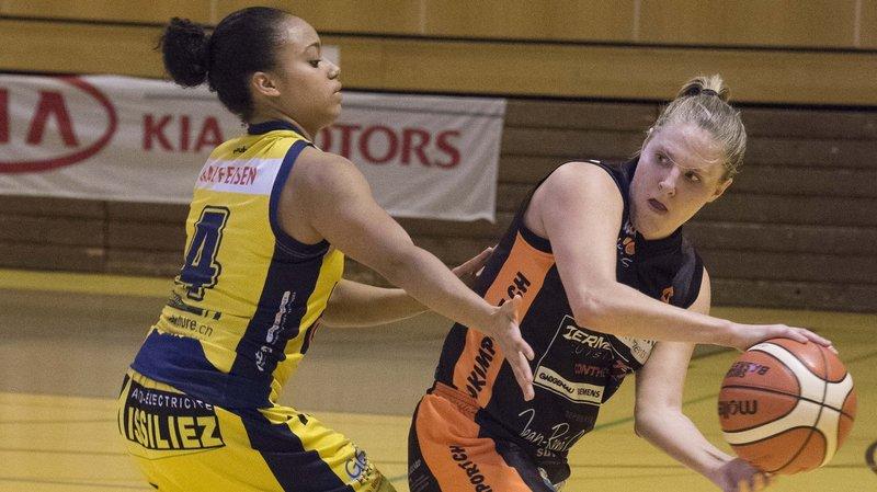 Brigitte Huguenin (BBC Troistorrents) et Nadia Constantin (Hélios Basket) devront batailler pour la suprématie valaisanne.