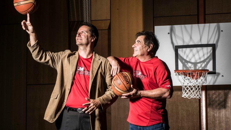 Alain Zumstein et Etienne Mudry veulent s'appuyer sur leur mouvement jeunesse pour ramener Sion Basket vers les sommets.