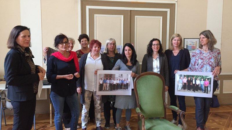 Valais: les femmes manifestent au Grand Conseil