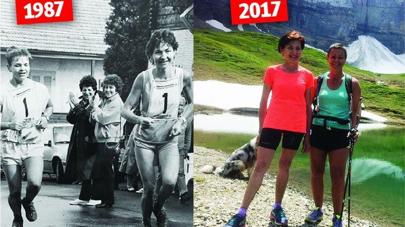 30 ans séparent ces deux images. Mais les deux coureuses n'ont rien perdu de leur allant.