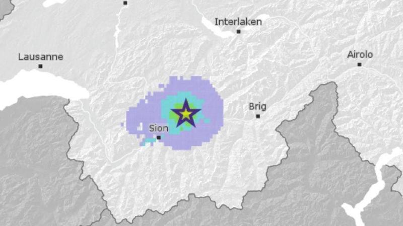 Sierre: tremblement de terre de magnitude 3,1