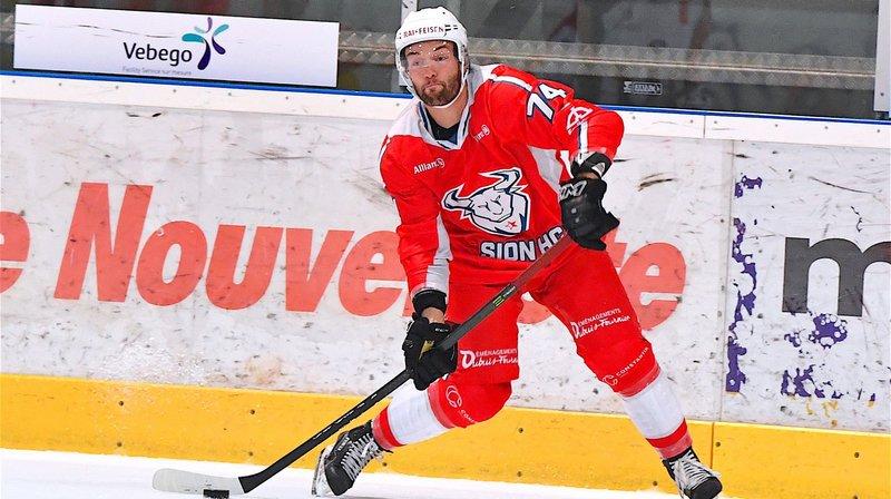 Sami El Assaoui sous le maillot du HC Sion Nendaz 4 Vallées lors de la saison 2017-2018.
