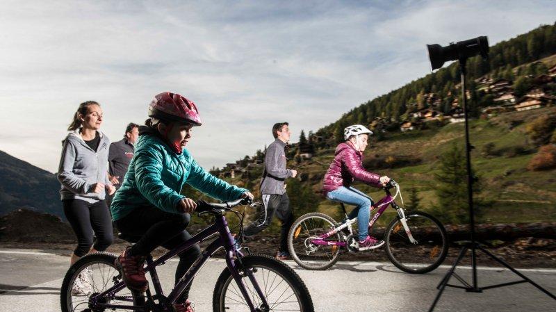 Petits et grands sont invités à s'élancer sur le parcours de 6,5km entre Saint-Luc et Ayer.