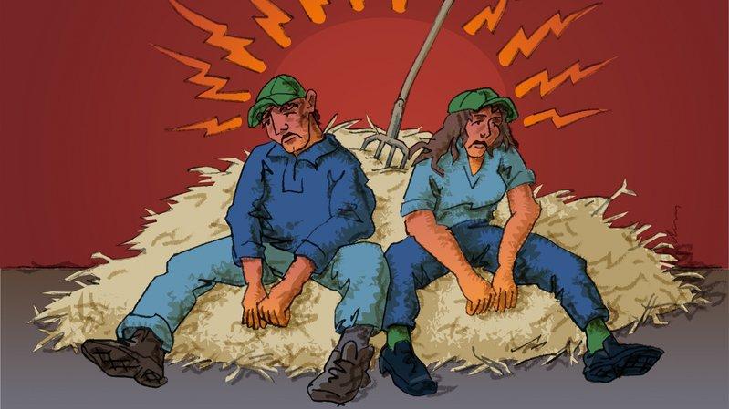 Les agriculteurs doivent faire face à de nombreux facteurs qui influencent les risques de burnout.