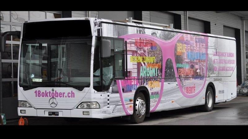 Traite des êtres humains: un bus d'information va sillonner la Suisse durant un an