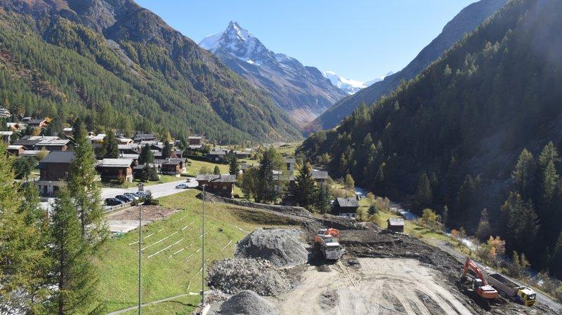 La deuxième phase des travaux de construction de la résidence touristique de Zinal a débuté.