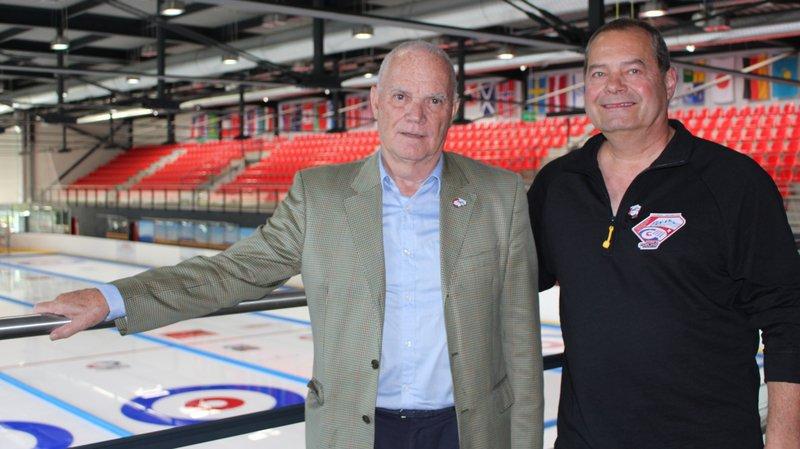 Luc Fellay, président de Champéry et Jacques Dussez, président du comité d'organisation.