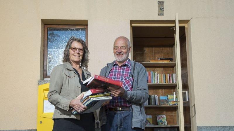 A Mex, une ancienne cabane téléphonique devient un dépôt à livres