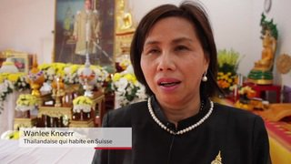 Cérémonie pour le roi de Thaïlande en Suisse