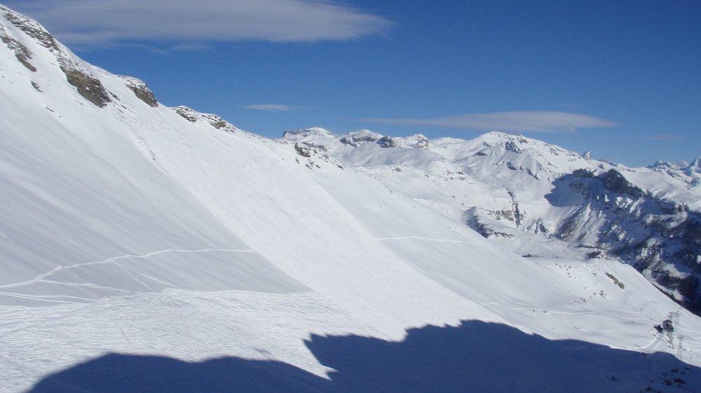 Une photographie prise à Anzère après l'avalanche en 2009.