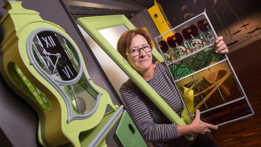 Avec ses horloges «Act'heure», Chantal Wessels joue sur le thème «Acte» de la Biennale.