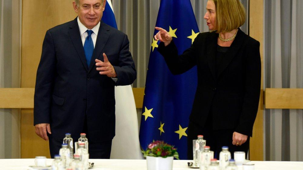 L'Israélien Benyamin Netanyahou et l'Européenne Federica Mogherini ne semblent pas d'accord...