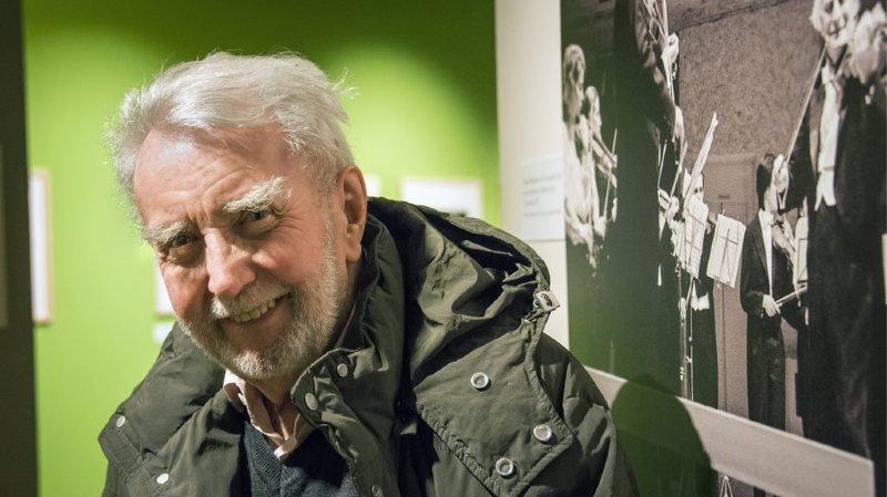 Le photographe Marcel Imsand lors du vernissage de son exposition à Gianadda en 2012.