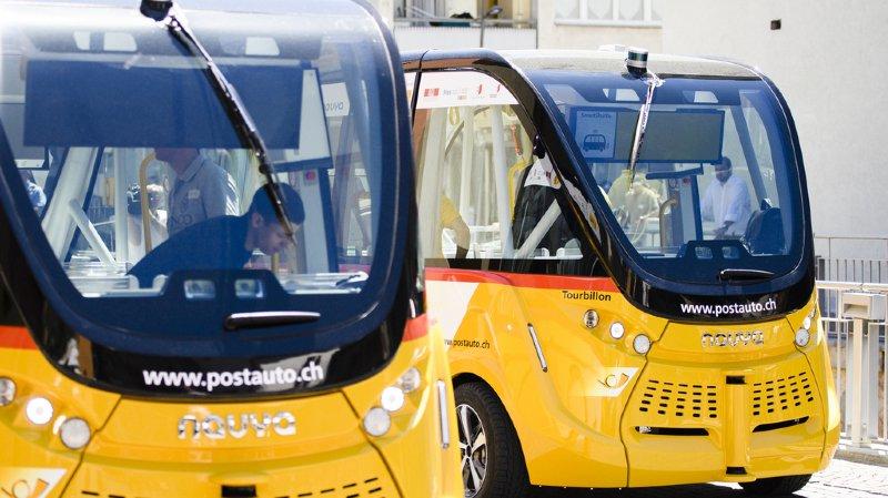 Après un premier test concluant à Sion, des navettes autonomes vont être testées sur les routes grisonnes