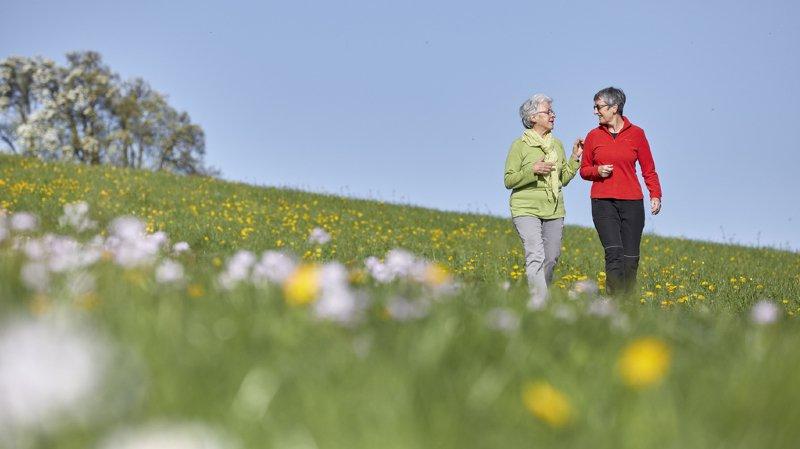 """Les chercheurs conseillent aux """"nombreuses personnes âgées pour qui la marche est le seul exercice"""" physique, d'aller marcher dans les parcs et espaces verts, dans la mesure du possible."""