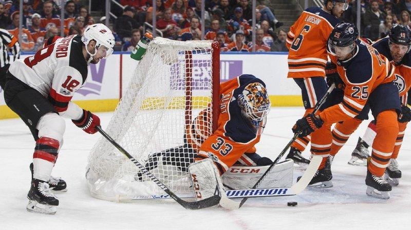 NHL: les Devils de Nico Hischier battus par Edmonton