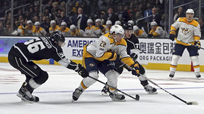Hockey-NHL: troisième succès de rang pour Kevin Fiala avec les Predators