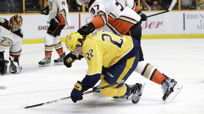 Hockey sur glace: Kevin Fiala, Denis Malgin et Timo Meier marquent en NHL