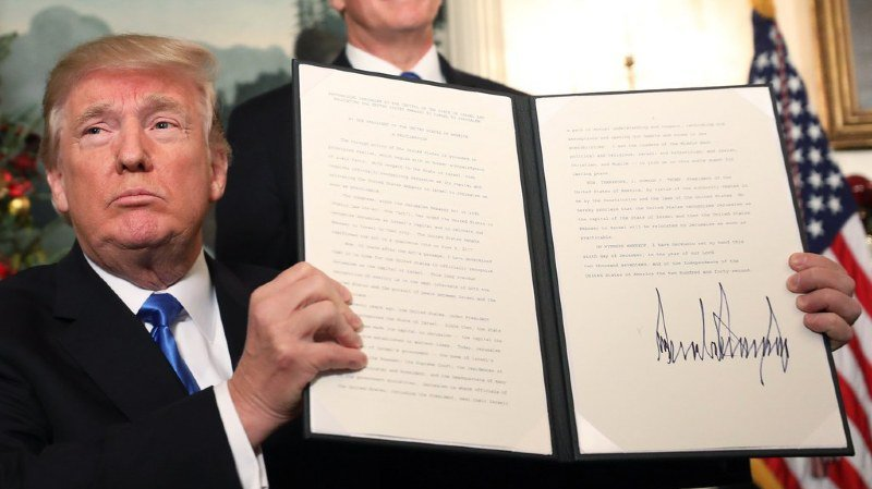 Donald Trump a signé mercredi sa déclaration reconnaissant Jérusalem comme capitale d'Israël.