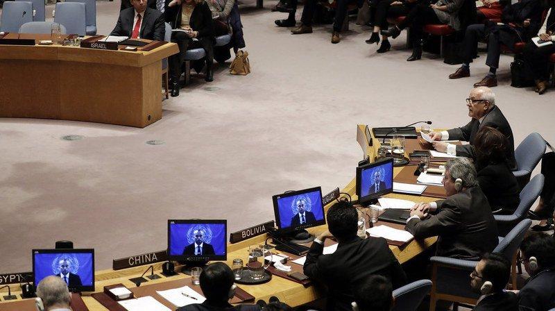 """Proche-Orient: la décision de Trump de reconnaître Jérusalem comme capitale d'Israël """"non conforme"""" aux résolutions du Conseil de sécurité"""