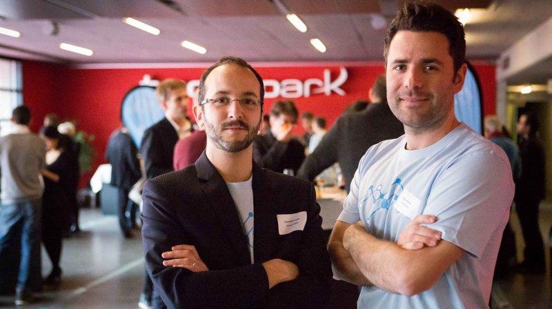 Alexandre Luyet, coordinateur du portail Science Valais, et Johann Roduit, docteur en droit et éthique biomédicale.