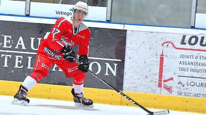 Tom Merola, joueur du HC Sion.