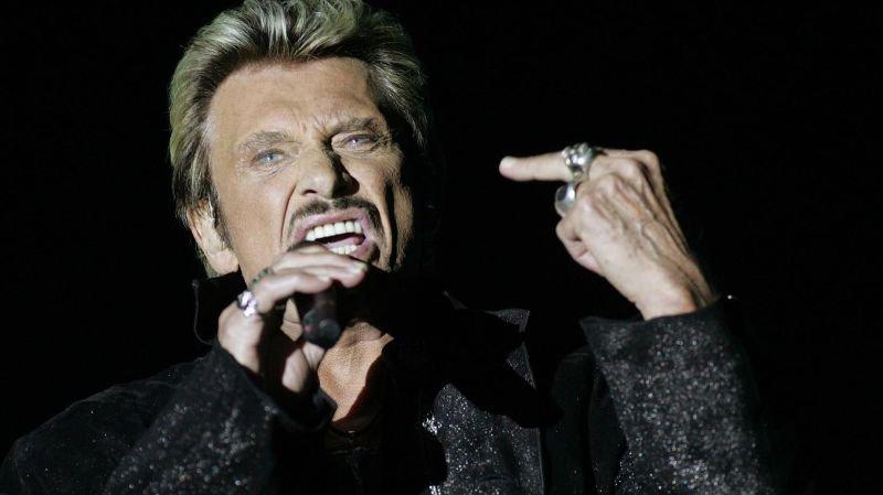 Johnny, lors de son concert de Tourbillon à Sion en 2006.