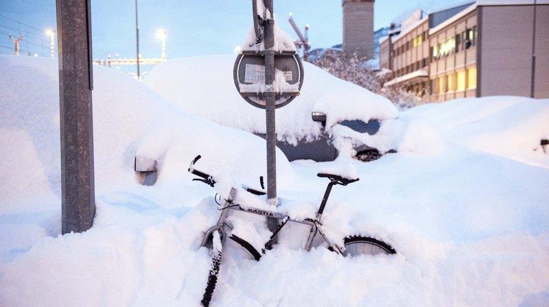 Record absolu de neige dans la plaine du Rhône