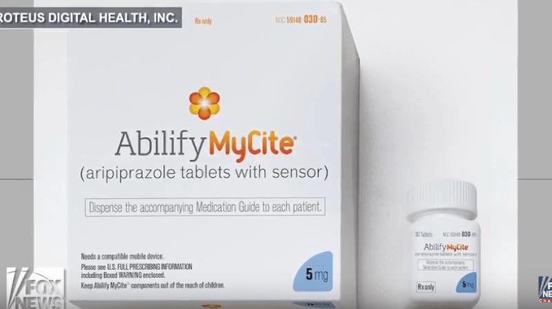 Abilify MyCite est commercialisée par le groupe pharmaceutique japonais Otsuka Pharmaceutical Company, tandis que le capteur et le patch sont fabriqués par la firme américaine Proteus Digital Health.