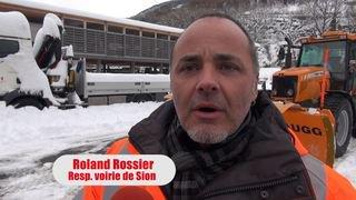 """Sion: après le déneigement des routes, place à l'opération """"Blanche-Neige"""" lundi soir"""
