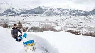 Une couche de neige record sur le Valais