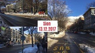 Valais: trois villes, trois rues, trois jours après la neige et si on comparait...