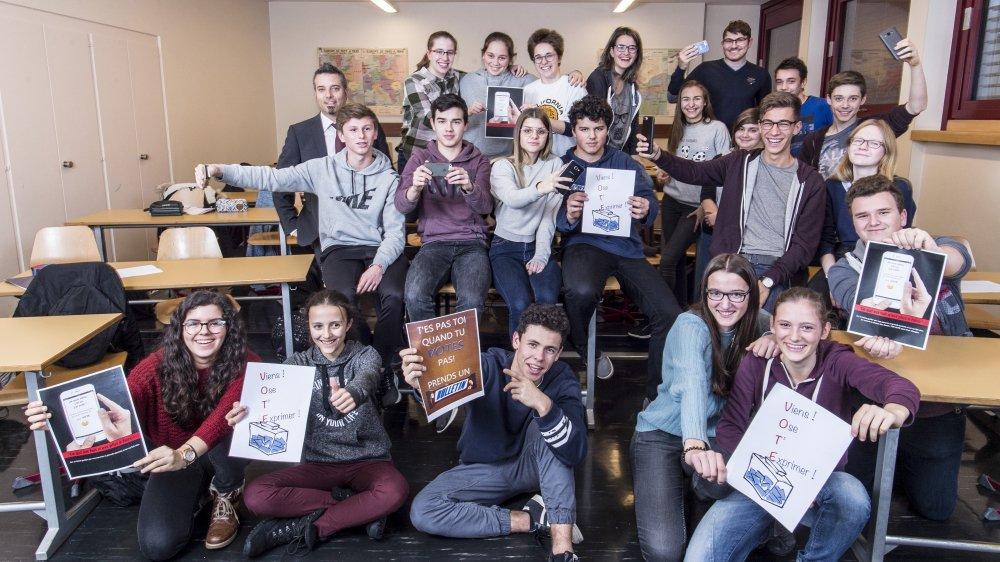 La classe 3C d'histoire de Stéphane Ganzer au Collège de l'Abbaye participe au concours national.
