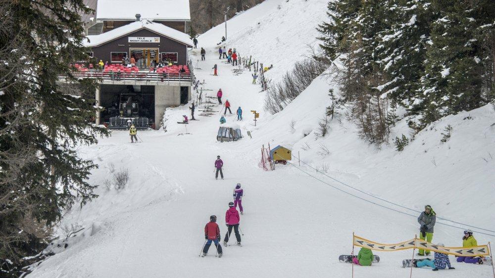 Après quatre hivers aux conditions d'enneigement compliquées, Nax-Mont-Noble retrouve le sourire.