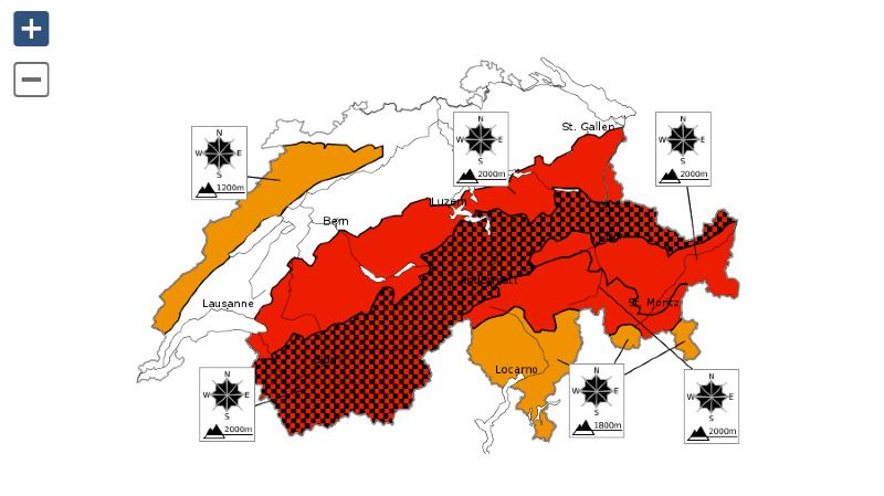 Le degré 5 a été décrété sur l'ensemble du Valais.