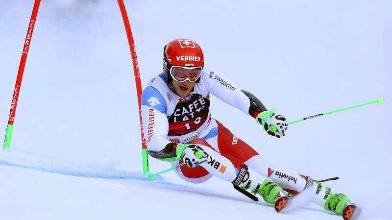 Ski alpin: Justin Murisier échoue au pied du podium au géant d'Alta Badia