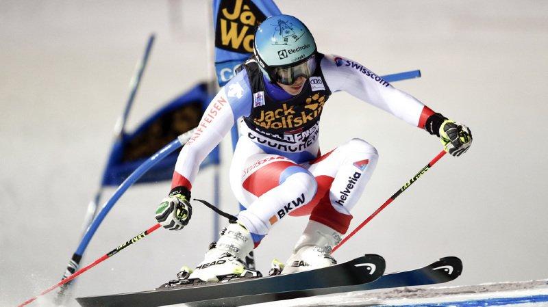 Wendy Holdener a peiné sur le petit saut à mi-parcours et s'est laissée devancer par la Norvégienne Maren Skjoeld
